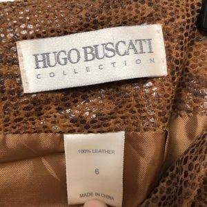 Hugo Buscati Skirts - Hugo Buscati LEATHER skirt